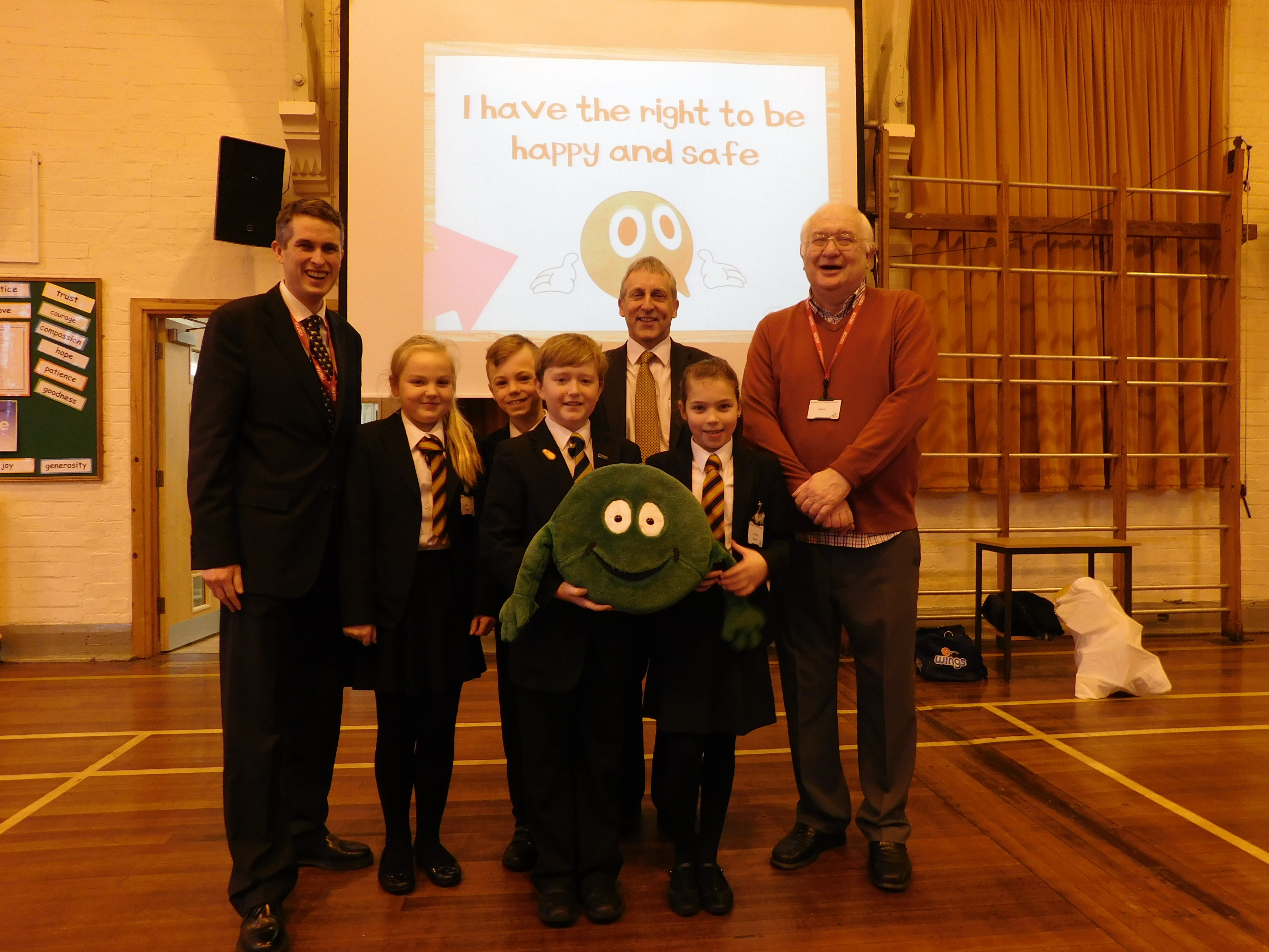 Gavin Visits Brewood Middle School For Nspcc Assembly Rt