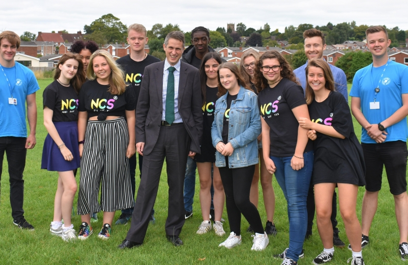 Gavin with NCS members