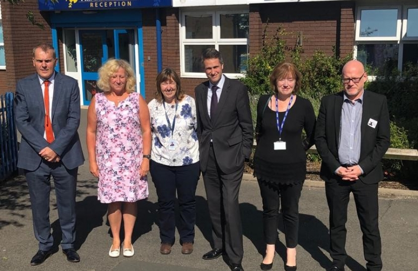Gavin with the School Trust's Governors