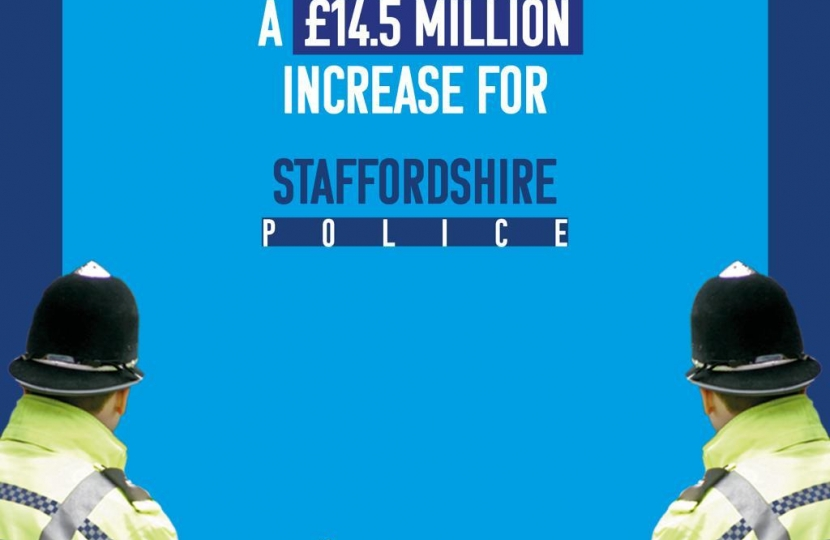 Staffordshire Police Funding Increase