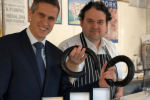 Gavin Williamson visits Martin Thomas Butchers